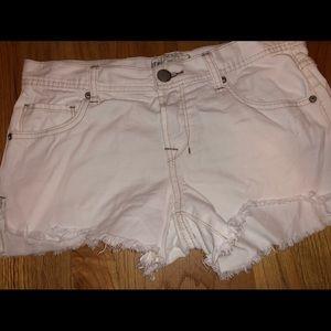 Free people white jean shorts
